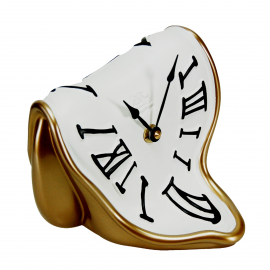 """Folded """"melting"""" clock"""