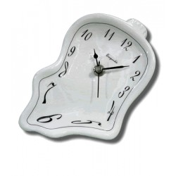 Ceramic small clock - White