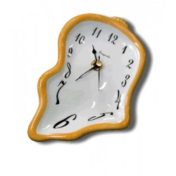 Ceramic small clock - Yellow
