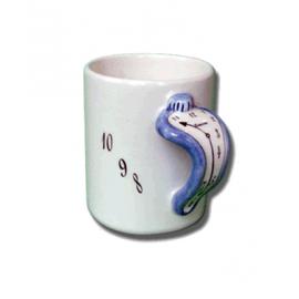 """Ceramic """"Melting"""" Mug / Blue"""
