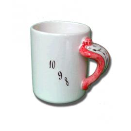 """Ceramic """"Melting"""" Mug / Red"""