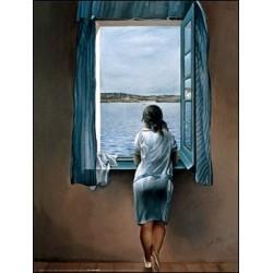 """Affiche - """"Jeune fille à la fenêtre"""""""